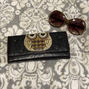 Owl Loungefly tri fold wallet